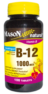 Vitamina B-12 1000 Sublingual MCG