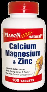 Calcio, magnesio y zinc
