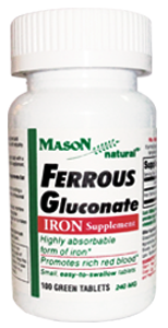FERROUS GLUCONATE 240 MG
