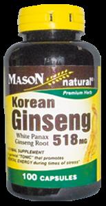 Ginseng koreano 518 MG