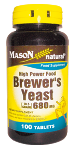High Power Food BREWER´S YEAST (10.5 grain) 680 mg (Levadura de Cerveza)