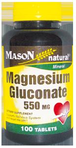MAGNESIUM GLUCONATE 550MG