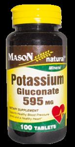 Gluconato de potasio 595 MG