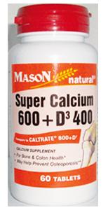 Super Calcium 600 + D3 400