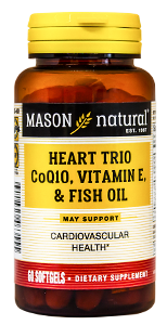 Heart trio CO Q-10, vitamin E and fish oil