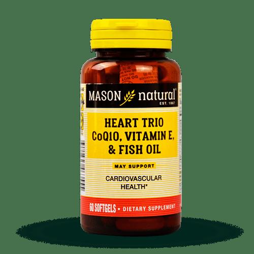 Heart trio CO Q-10, vitamin E and fish oil